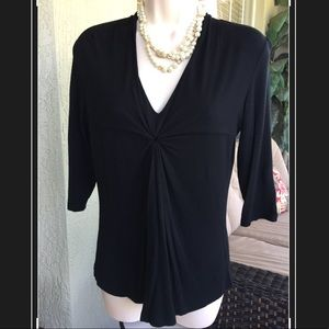 Women's black soft flowy blouse